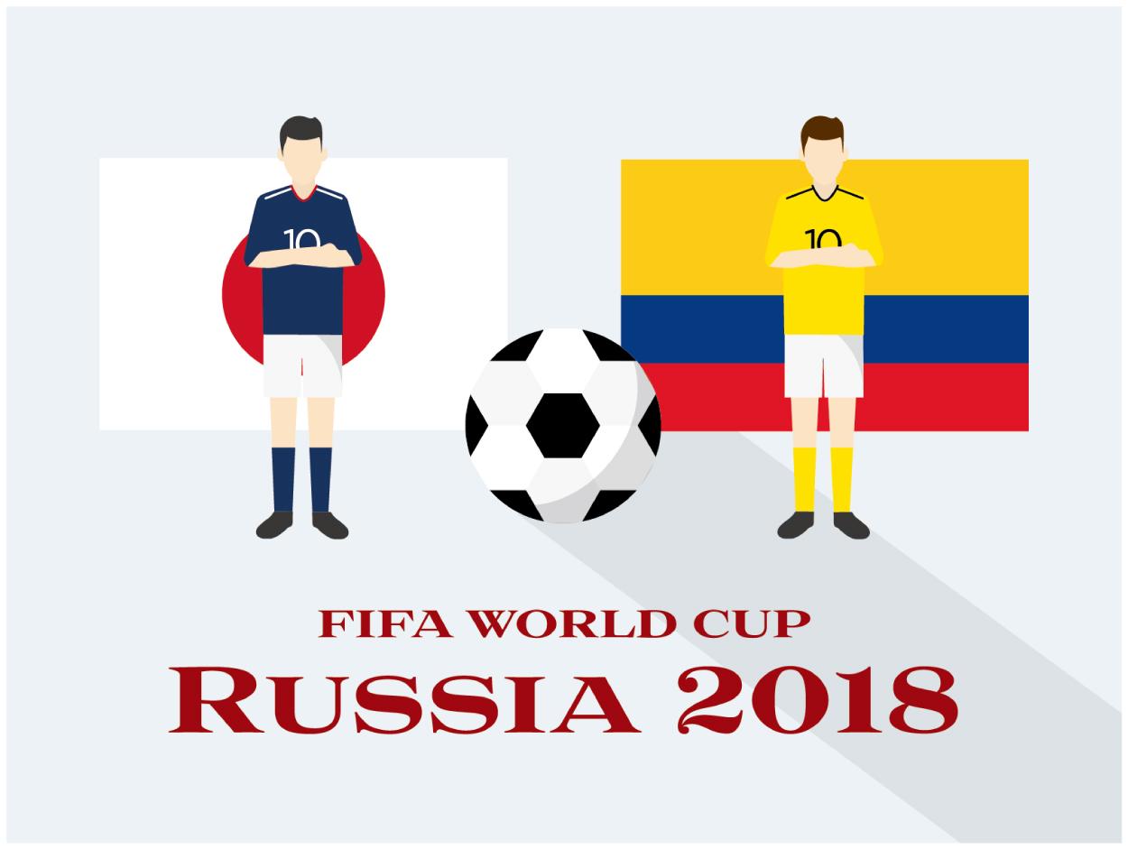 ワールドカップ2018 日本対コロンビア