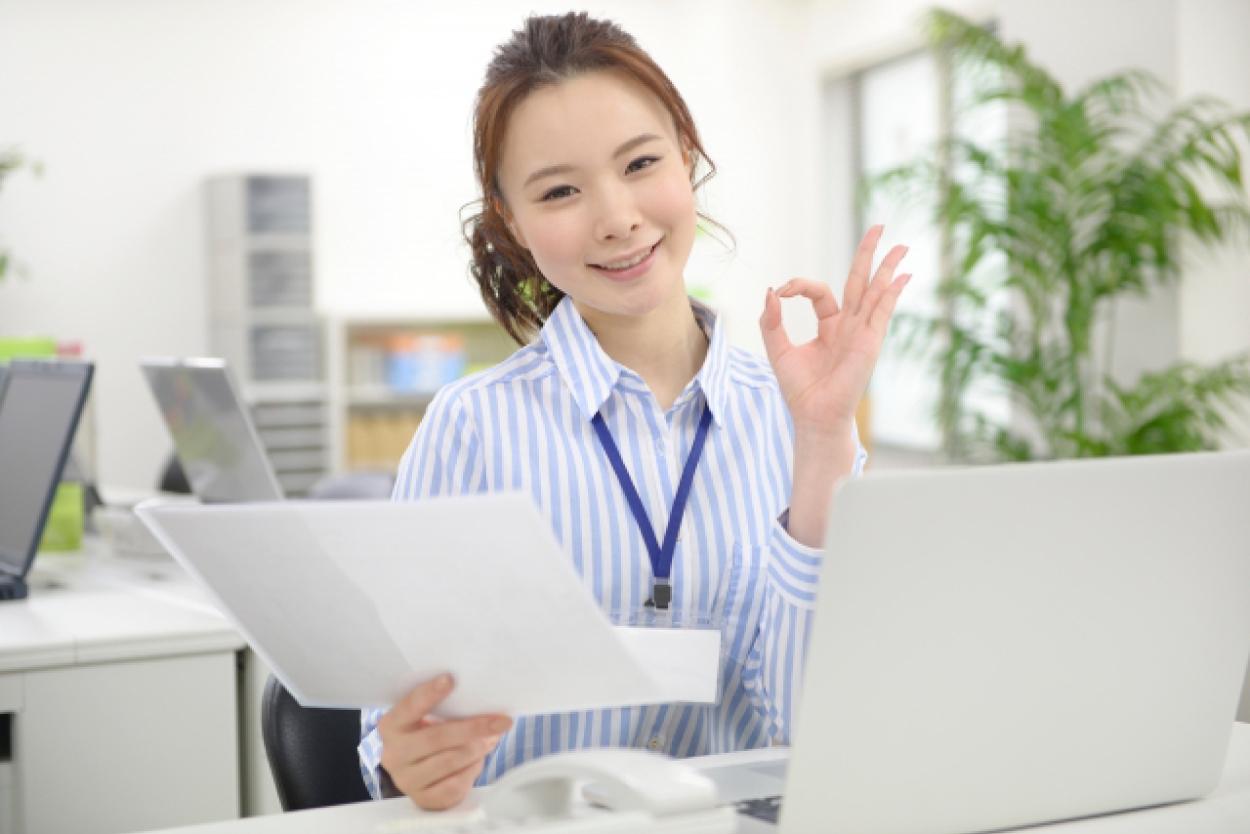 女性 パソコン OK ビジネスパーソン