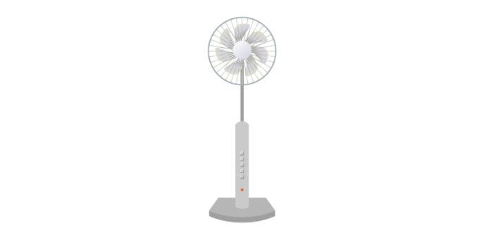 扇風機 グレー