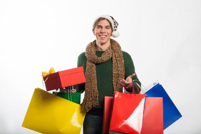 男性 マフラー 買い物 ショッピング