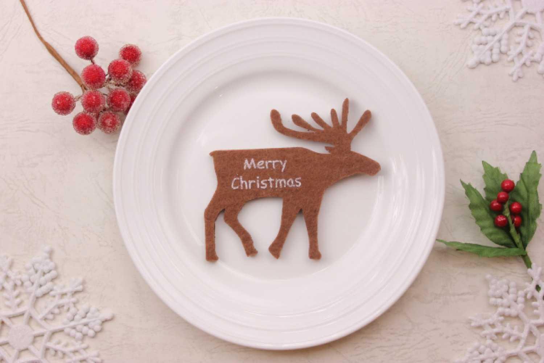 クリスマス トナカイ お皿 食卓