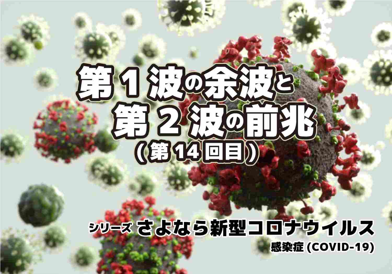 新型コロナウィルス COVID-19 第1波の余波と第2波の前兆 シリーズ第14回目