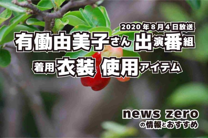 news zero 有働由美子さん 衣装 2020年8月4日放送