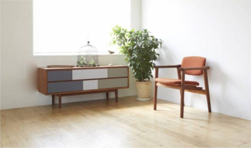 リビング 観葉植物とソファ