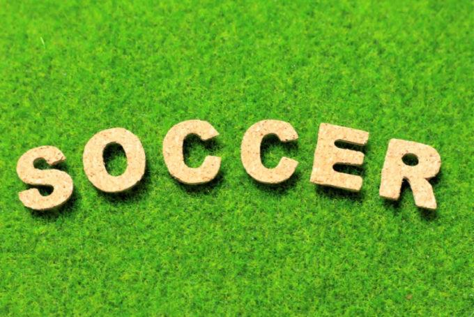 サッカーグラウンド 芝 文字