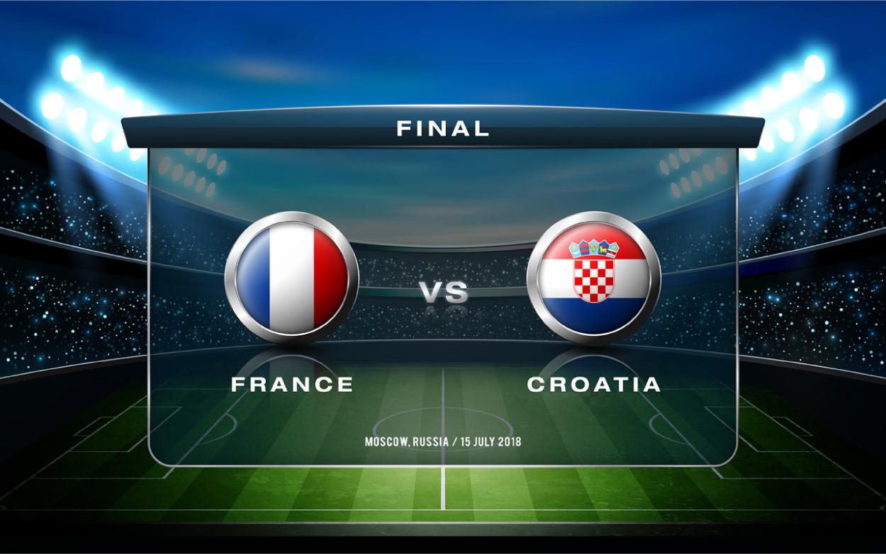 W杯決勝戦フランスVSクロアチ