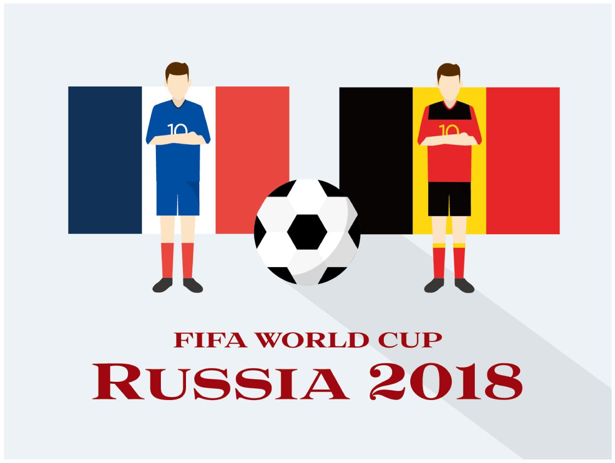 フランスVSベルギー ワールドカップ