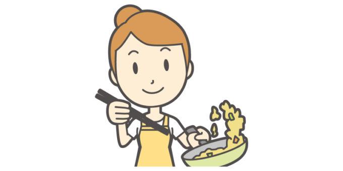 キッチン 料理 女性