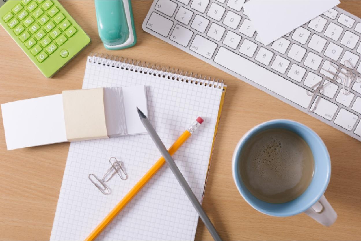 文房具 コーヒー パソコンのキーボード
