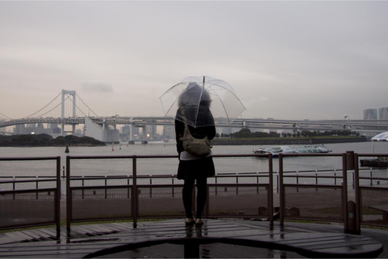 雨 女性 傘
