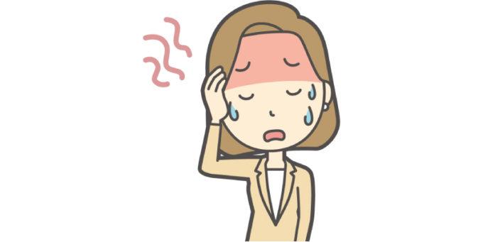 女性 暑い 汗 疲れ