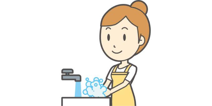 女性 手洗い 水道