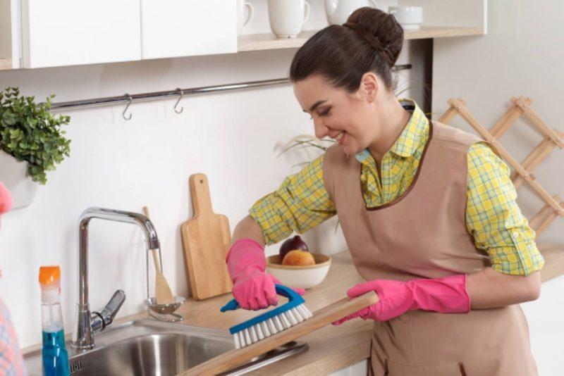 女性 外国人 掃除