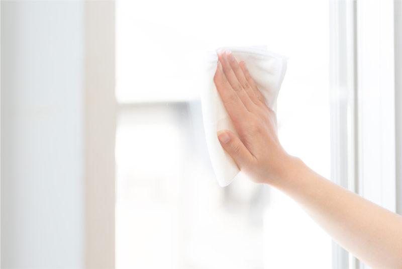 サッシ 窓 窓拭き
