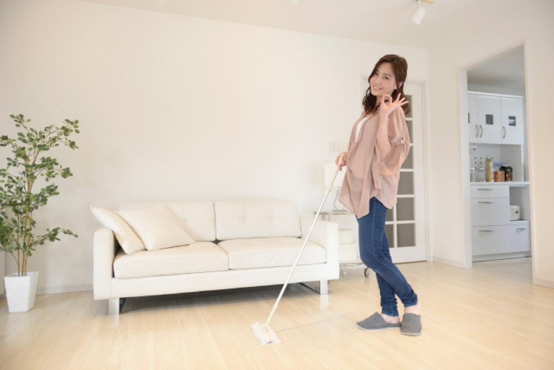 掃除 女性 リビング