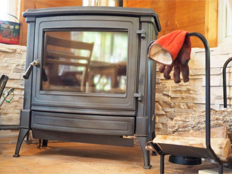 暖炉 冬 室内