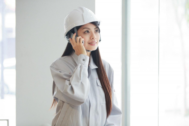 作業 女性 工事 現場