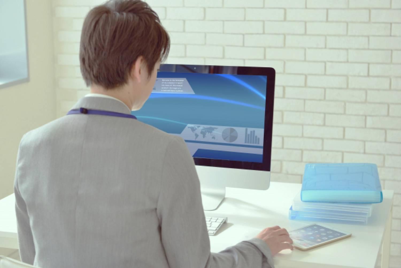 パソコン 男性 オフィス