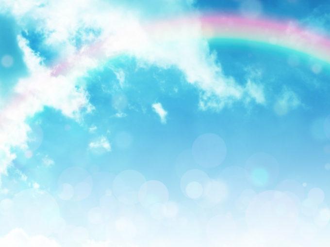 晴れ 青空 虹