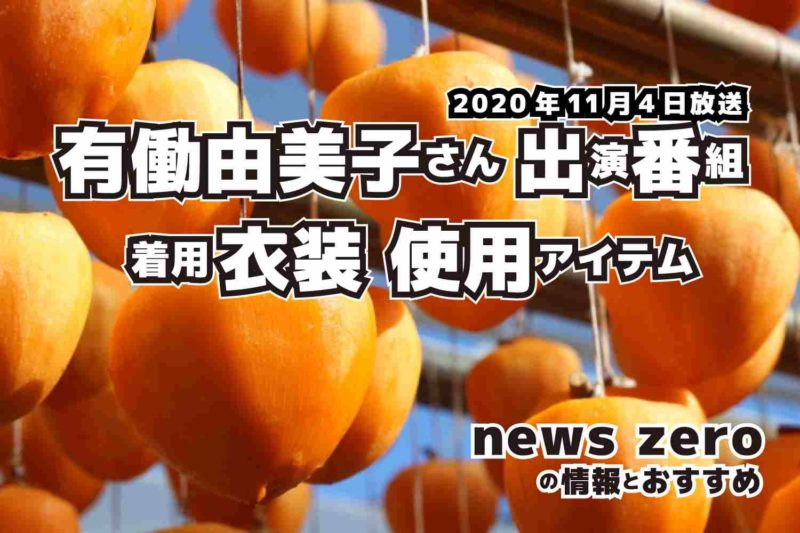 news zero 有働由美子さん 衣装 2020年11月4日放送