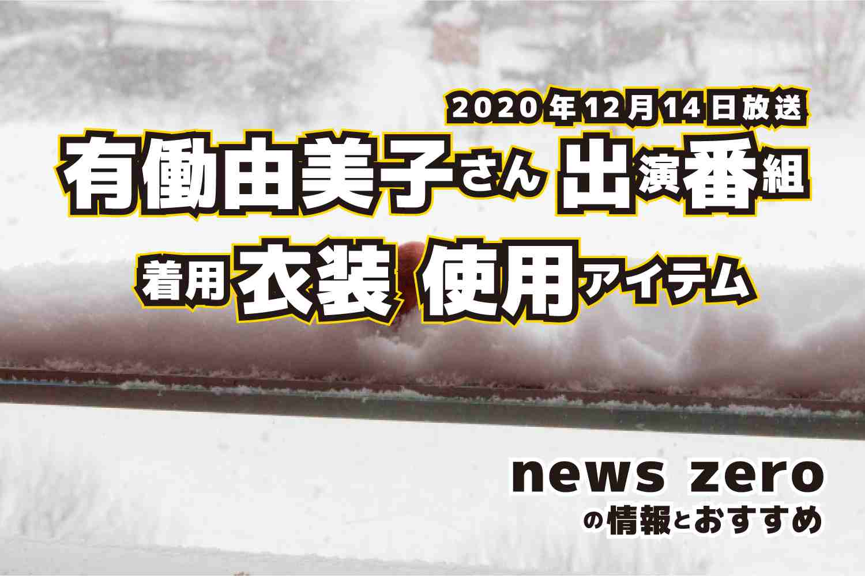 news zero 有働由美子さん 衣装 2020年12月14日放送